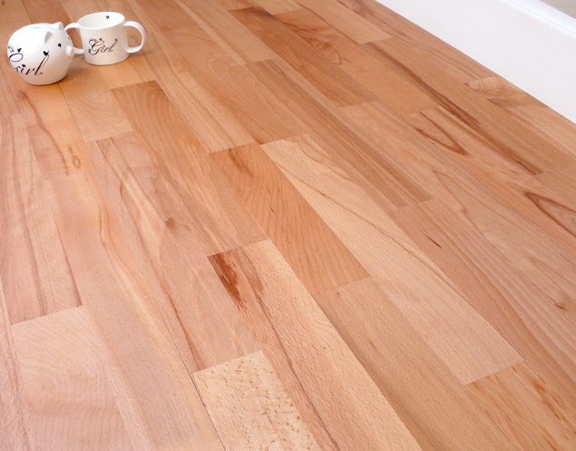 Beech Wood flooring . moderately tight grain, color pink brown, bends well. used for furniture.