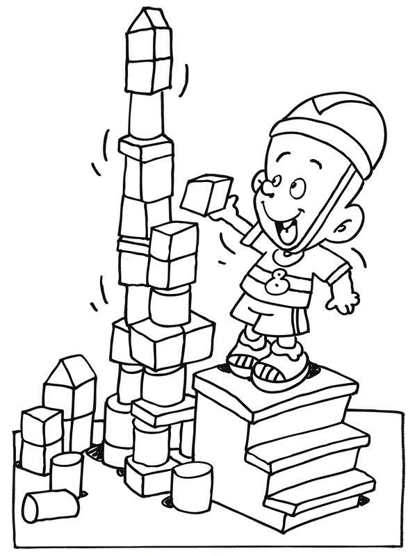 toren bouwen welkom kleurplaten torens