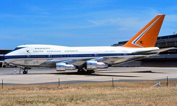 South African Airways ZS-SPE 'Hantam' Boeing 747SP-44 entered service 1976.