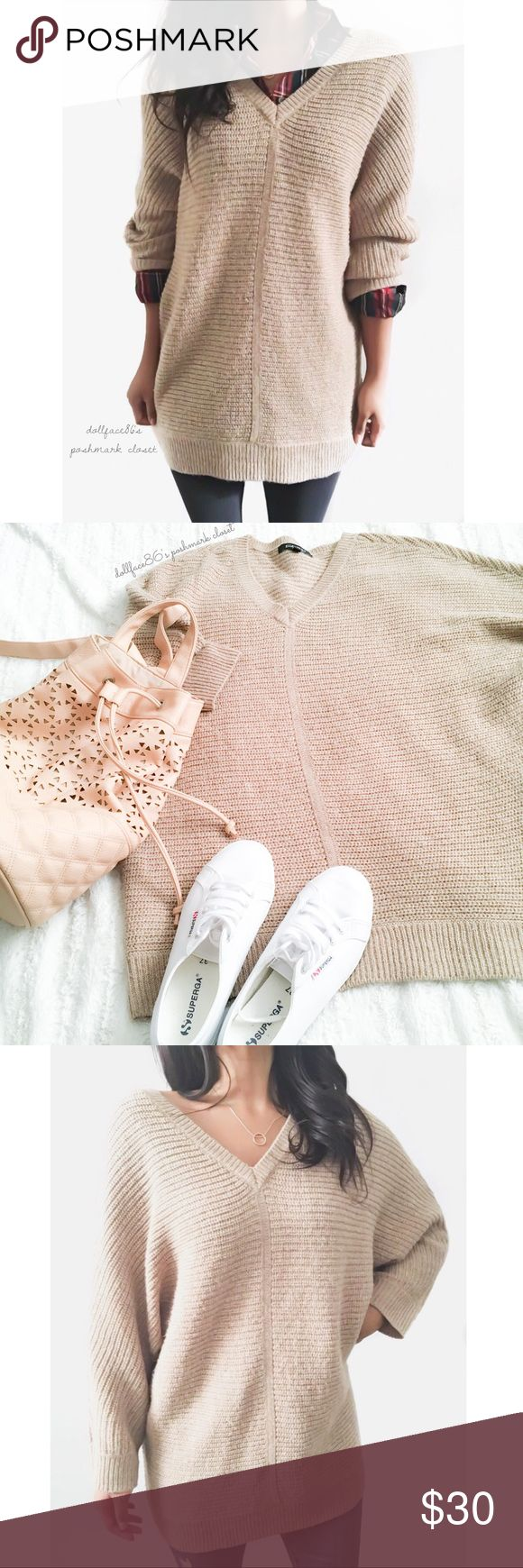 """Super Cozy Dolman Sweater ✦   ✦{I am not a professional photographer, actual color of item may vary ➾slightly from pics}  ❥chest:26.5"""" ❥waist:23.5"""" ❥length:29"""" ❥sleeves:23.5"""" ➳acrylic + viscose/machine wash  ➳fit:in my opinion true w/a stretch to knit & longer fit dolman sleeves  ➳condition:gently used   ✦20% off bundles of 3/more items ✦No Trades  ✦NO HOLDS ✦No lowball offers/sales are final  ✦‼️BE A RESPONSIBLE BUYER PLS ASK QUESTIONS/USE MEASUREMENTS TO MAKE SURE THIS WILL WORK FOR {YOU}…"""