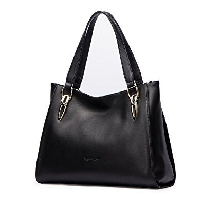 07fa30918b8 LAORENTOU Women s Bag Leather Handbag Lady Shoulder Purse Cowhide Tote  Review   Purse, Shoulder and Hobo bags