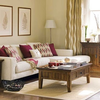 Neutral and pink colours will go well in our lounge