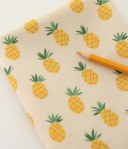 Pineapple Pattern Digital Printing Cotton Fabric by luckyshop0228