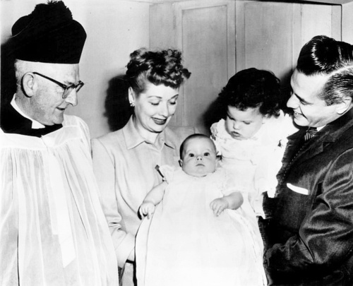 Lucy And Desi With Desi Jr And Lucie At Desi Jr S Baptism