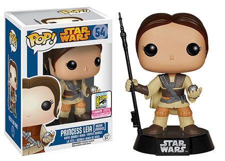 Star Wars, Princess Leia Boussh unmasked, Pop! figure by Funko. San Diego Comic Con 2015 exclusive.