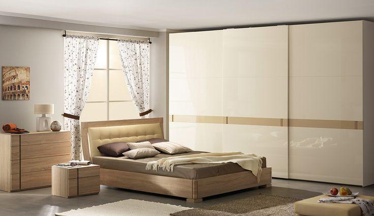 Интерьер спальни с большим шкафом-купе | Дизайн интерьера современной спальни  #астрон #мебель #astron #спальни
