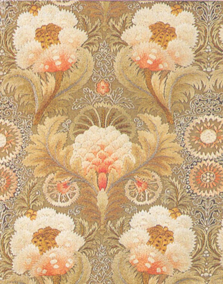 Embroidery designed by William Morris