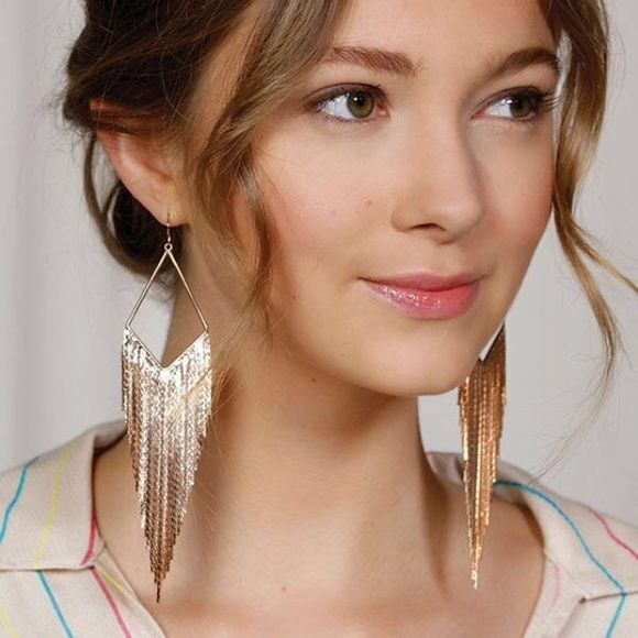 """Jules Smith Fringe festival earrings NWT These fun earrings are definitely party-worthy! Dress them up with a LBD or a boho chic outfit. One pair in gold. 14k yellow gold plate. Approximately 5""""L. French wire backs. As seen at Barneys New York. Barneys New York CO-OP Jewelry Earrings"""