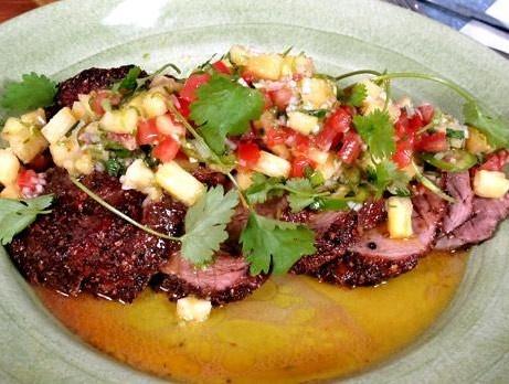 Honungsstekt fläskfilé med salsa