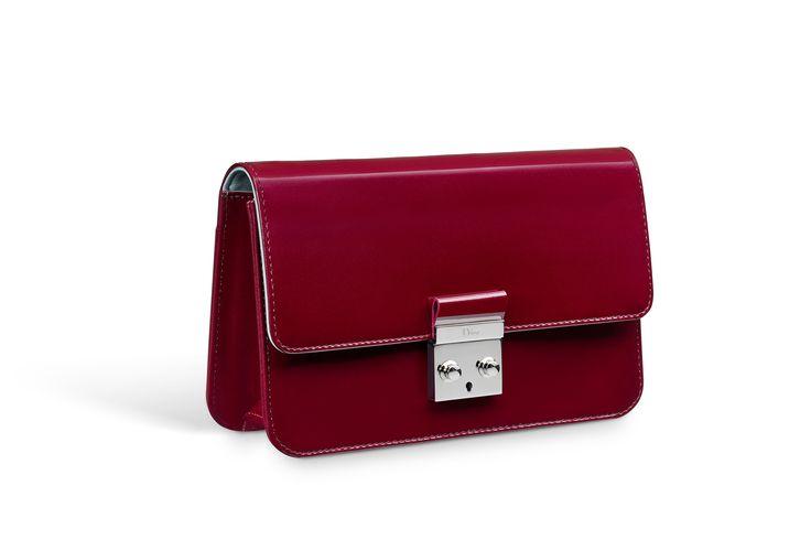 """Клатч """"promenade"""" из коллекции """"miss dior"""", гладкая лакированная кожа теленка цвета bourgogne -  Dior"""