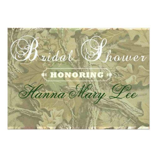 Camo Elegant Bridal Shower Invitation