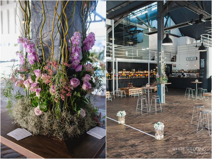 Amanda + Amber's stylish wedding at The Theatre Bar at the End of the Wharf, located within the Sydney Dance Company Wharf with magnificent Sydney harbour views flooded with natural light.