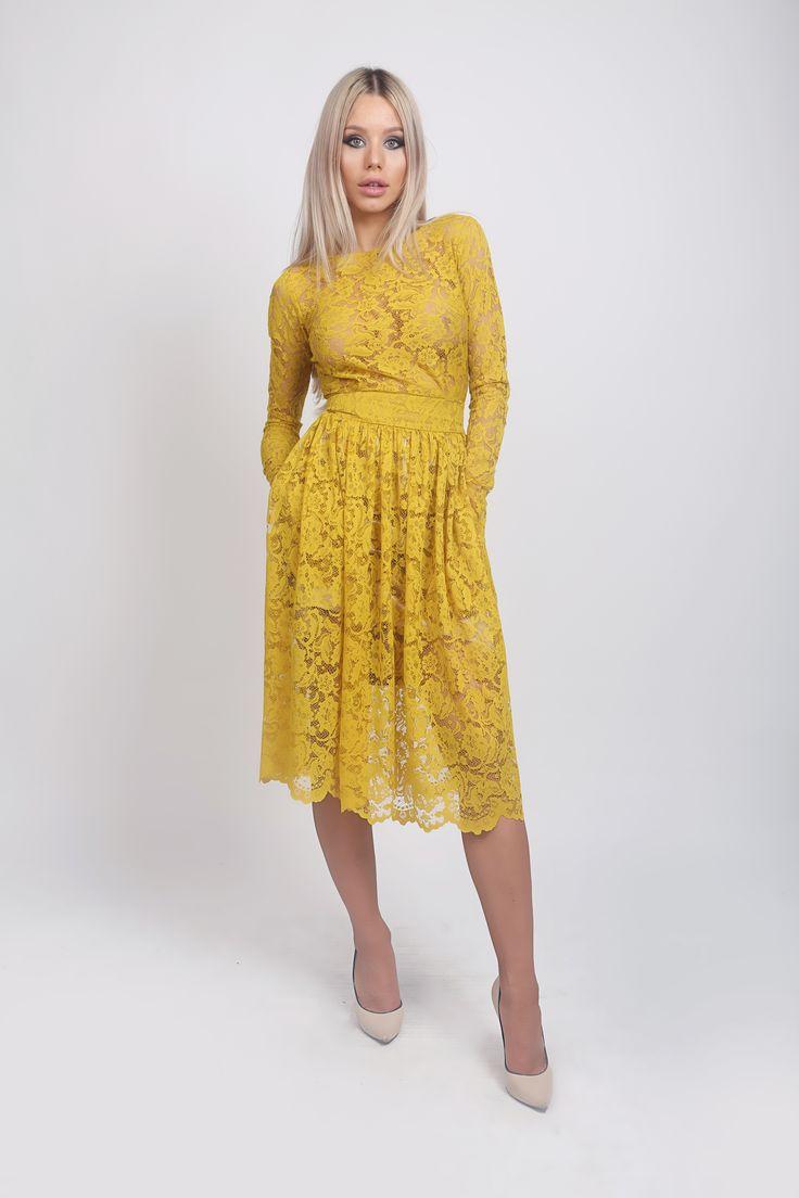 Boho Style Dress! http://www.noire.ro/product/rochie-dantela-mustar/