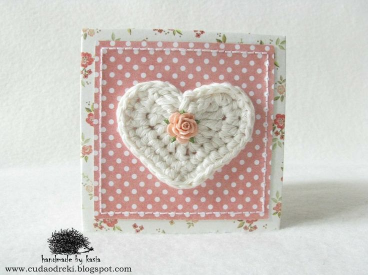 dots, wool, crochet, kwiaty, serce, heart, accordion book, leporello, mini photo album by CUDA OD RĘKI