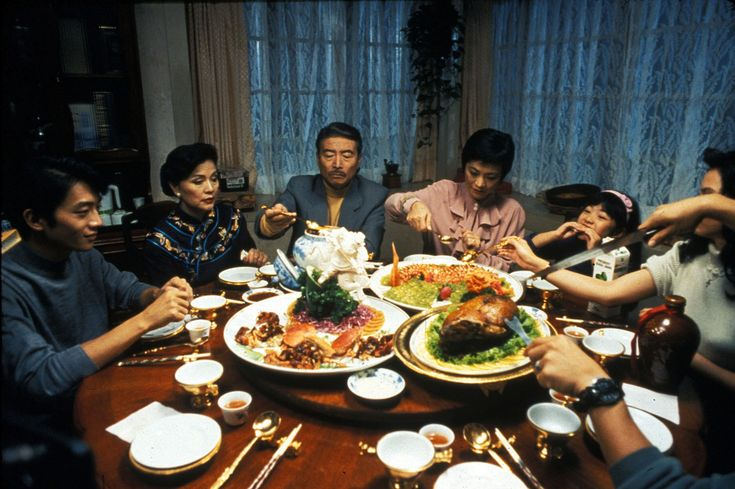 "a table of delicious food from the movie ""Eat Drink Man Woman"", directed by Ang Lee"