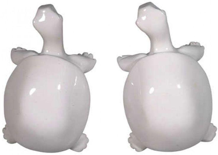 The Zoo Dörrknoppar Sköldpadda Vit | Inredning På väggen | Jollyroom