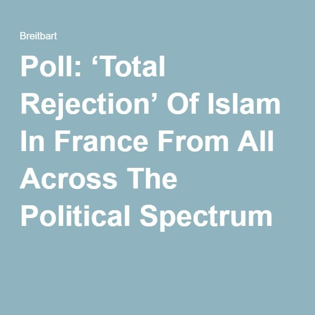 Poll: 'Total Rejection' Of Islam In France From All Across The Political Spectrum