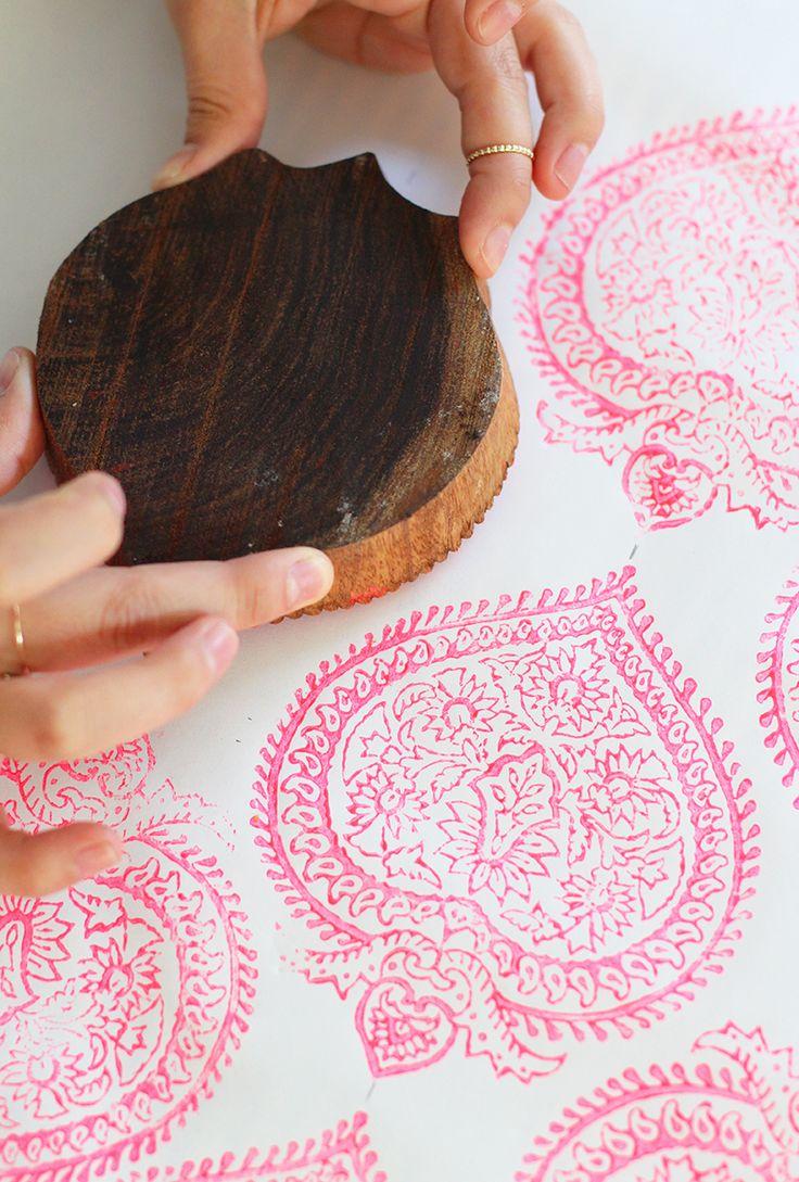 Woodblock printing tutorial #selvahwellness                                                                                                                                                      More