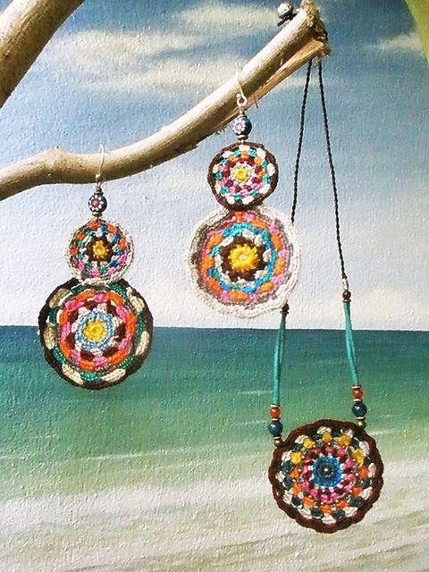 ~ crochet jewellery ~ | AowDusdee on Flickr - Photo Sharing!