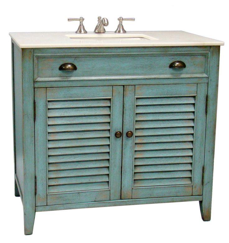 36u201d Cottage Look Abbeville Bathroom Sink Vanity Cabinet   Model # CF 28884