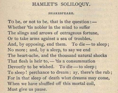 Hamlet - To be or not to be - William Shakespeare