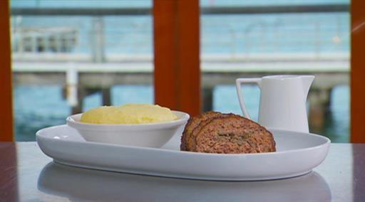 Matt's meatloaf with BBQ sauce and potato skin mash | MasterChef Australia #MasterChefRecipes