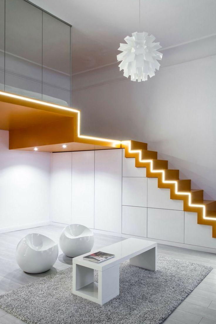 Les 25 meilleures id es de la cat gorie clairage d 39 escalier sur pinterest for Escalier interieur contemporain
