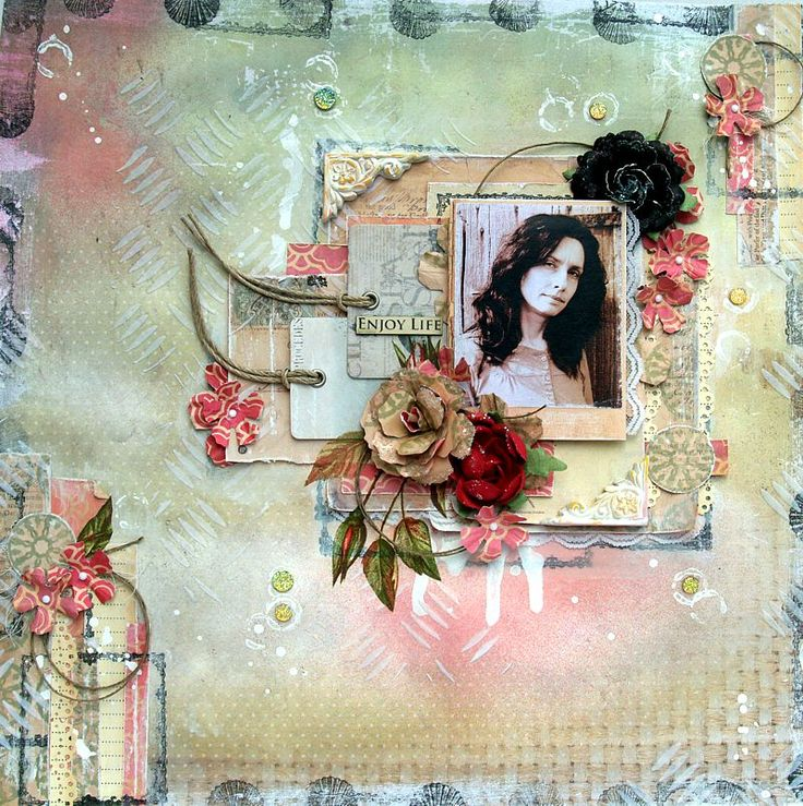 Enjoy Life - SOE layout - Kaisercraft - Paradiso Collection - 12 x 12 Double Sided Paper - Sun Chaser