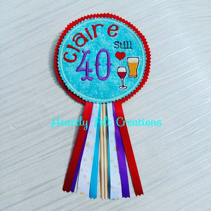 40 Badge - Wine Badge - Wine Birthday -  Personalised Love Wine Beer Number Birthday Badge for any age 20 - 30 - 40 - 50 - 60 - 70 - 80 - 90 - 100 by AHeartlyCraft on Etsy