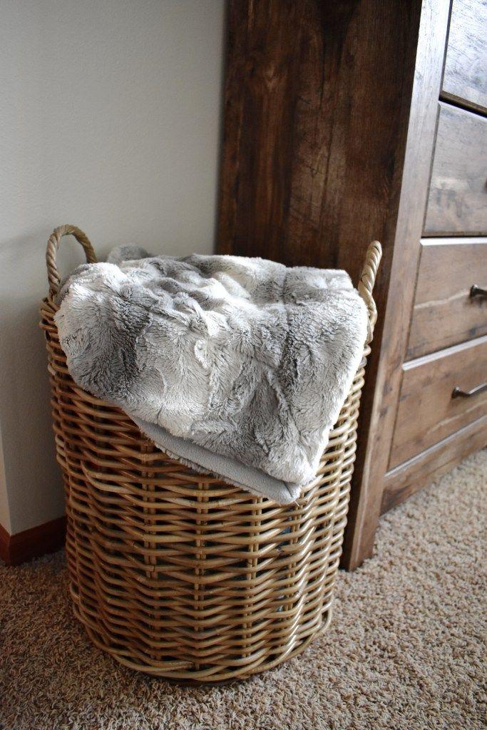 Master Bedroom Reveal | Blanket basket, Farmhouse blankets ...