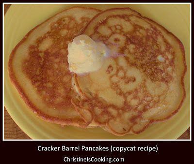 ChristineIsCooking.com: Cracker Barrel Pancakes (copycat recipe)
