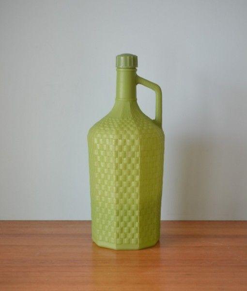 Vintage dragonware plastic bottle jug