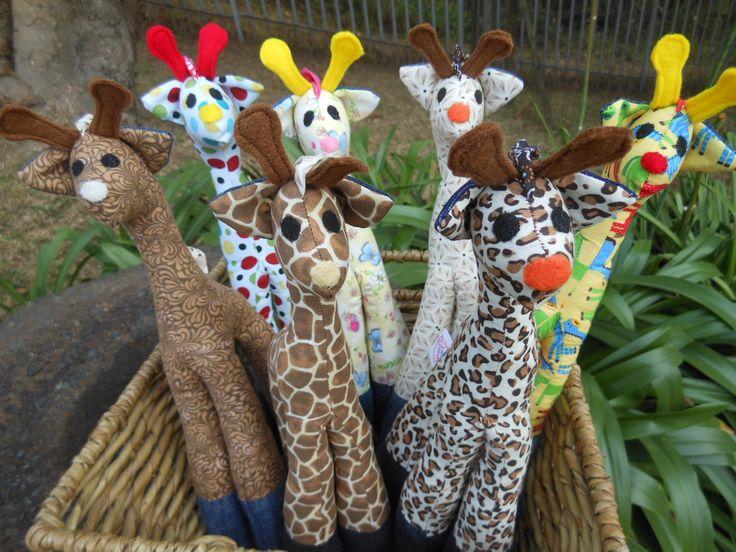 Giraffe in ethnic African print look very cool!