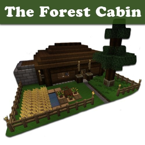 Minecraft Building Designs: The Forest Cabin (Step-By-Step Blueprint And Video Instructions Included) by Johan Lööf, http://www.amazon.com/dp/B00BIT3SLA/ref=cm_sw_r_pi_dp_yhwkrb04G2EAC
