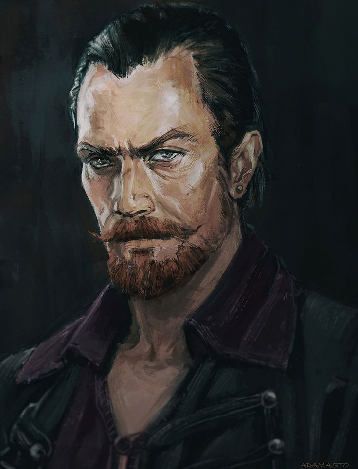 ArtStation - Captain Flint - Black Sails, Kseniia Tselousova
