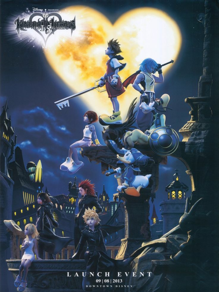 Kingdom Hearts 1.8 Game Fabric Poster