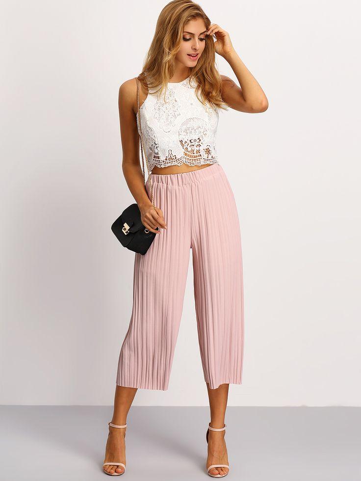 19 best culottes mystylebites.com images on Pinterest | Culottes style Pink culottes and ...