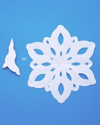 How to makw beautiful snowflakes