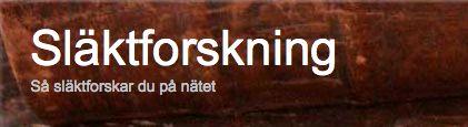 Blandad information om släktforskning http://www.slaktforskning.info/