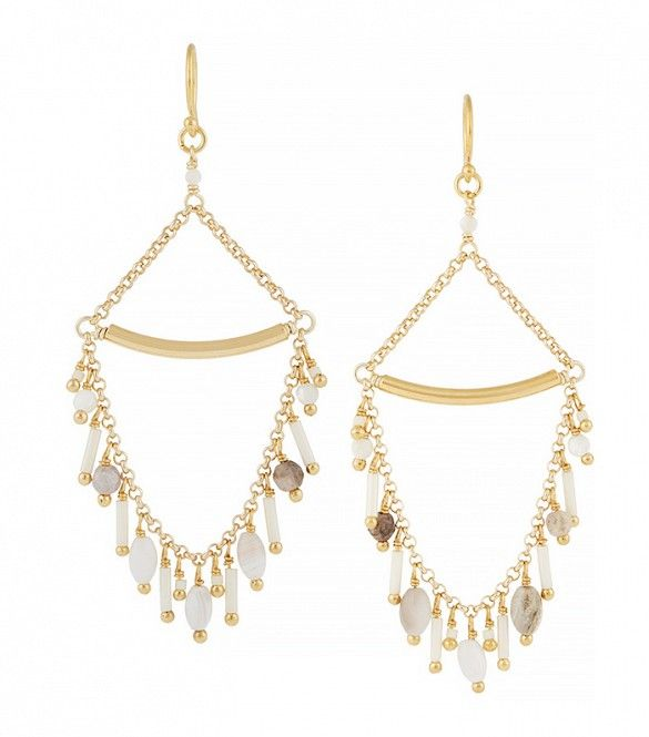 Chann Luu Gold-Plated, Bead and Opal Earrings