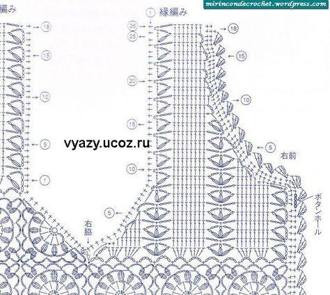 10 best bolero a crochet images on pinterest crochet chart un chalequito bien femenino crochet pattern ccuart Gallery