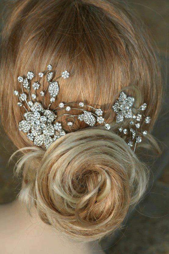 #wedding#hair  Simple and elegant