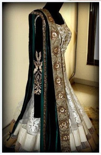 Offwhite Mughal Insprired Anarkali – Panache Haute Couture