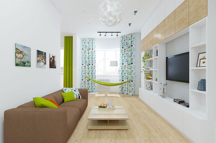 """Дизайн интерьера двухкомнатной квартиры в ЖК """"Московские Водники"""" в стиле минимализм."""