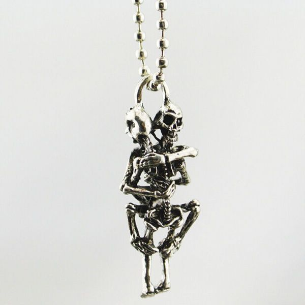 Gothic Sex Skull Stainless Steel Pendant Chain Necklace New!