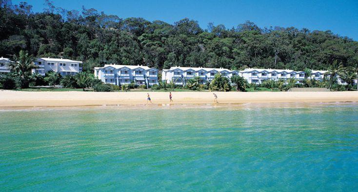 Moreton Island's. Tangalooma Island Resort. Beachfront villas. Discover. Explore. Queensland. InDaily.