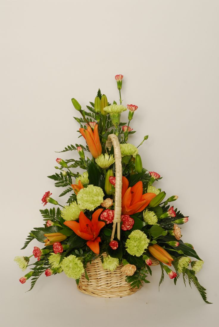 1000 Images About Flower Arrangement In Baskets On