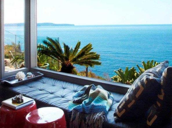 window seat ocean view