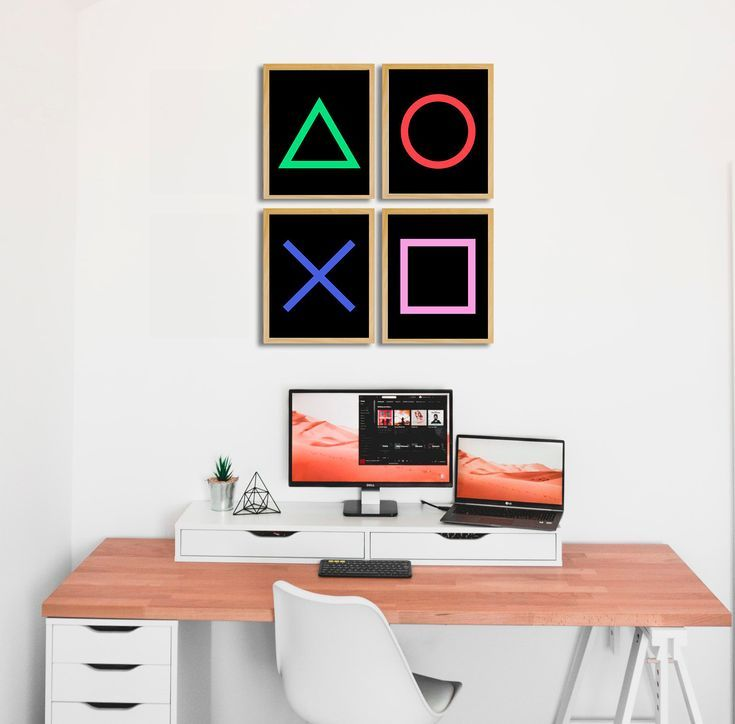 Video game decor, Gamer Prints, Gamer room decor, Kids Wall Art, Joystick print, Video Game Party, Playstation Buttons, Gaming Room wall art – – #Game…