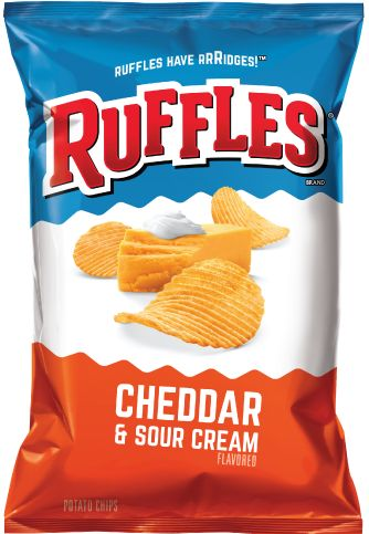 RUFFLES® Cheddar & Sour Cream Flavored Potato Chips